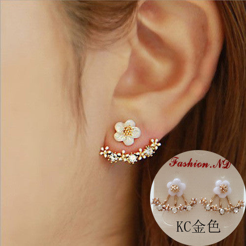 Daisy Flower Crystal Charming Earring - Oh Yours Fashion - 17