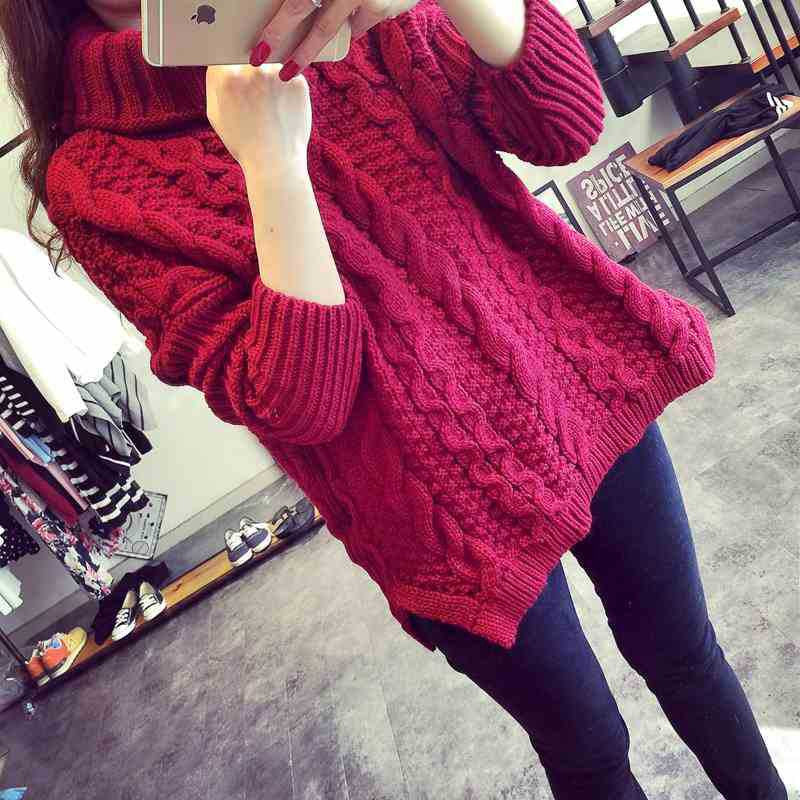 Retro Style Braid Knitting Plus Size Sweater - Oh Yours Fashion - 7