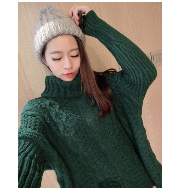Retro Style Braid Knitting Plus Size Sweater - Oh Yours Fashion - 5