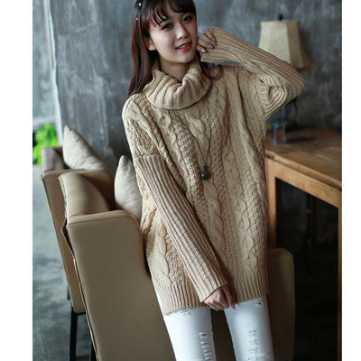 Retro Style Braid Knitting Plus Size Sweater - Oh Yours Fashion - 4