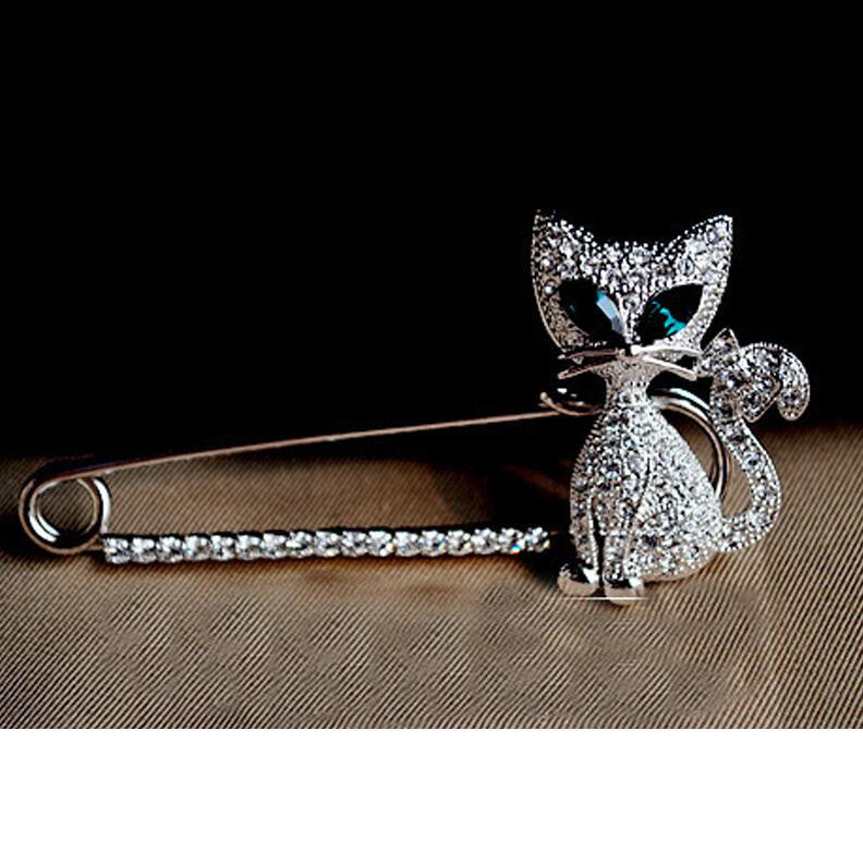 Shining Diamond Cat Brooch - Oh Yours Fashion - 2