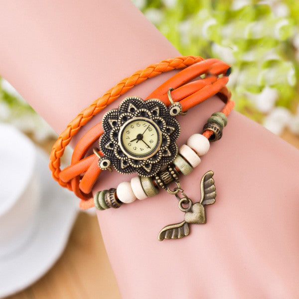 Heart With Wings Multilayer Watch - Oh Yours Fashion - 4