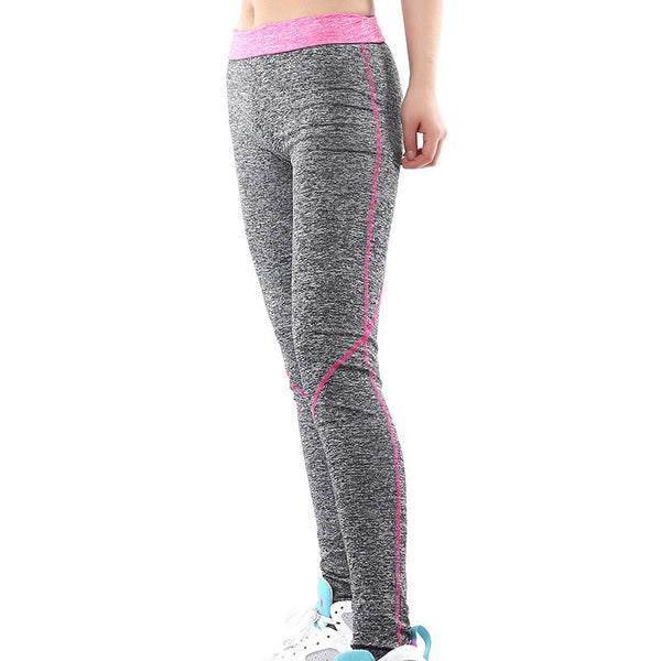 Patchwork Elastic High Waist Yoga Sport 9/10 Leggings - Oh Yours Fashion - 1