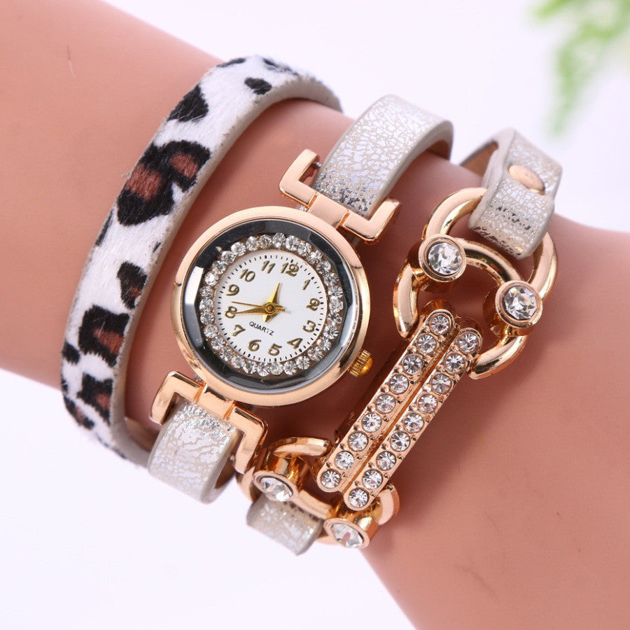 Personality Leopard Print Bone Watch - Oh Yours Fashion - 1