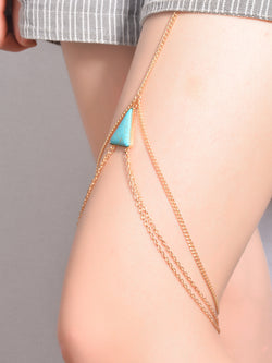 Geometry Tophus Multilayer Leg Chain - Oh Yours Fashion - 2