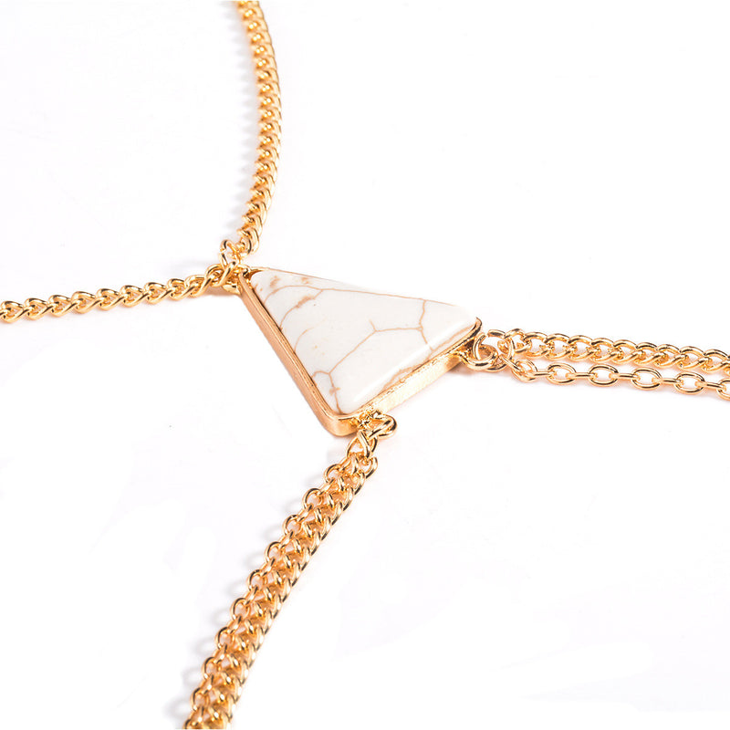 Geometric Triangle Tophus Joker Leisure BodyChain - Oh Yours Fashion - 2