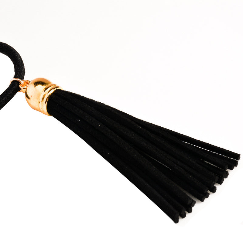 Black Lint Tassel Hair Clips - Oh Yours Fashion - 4