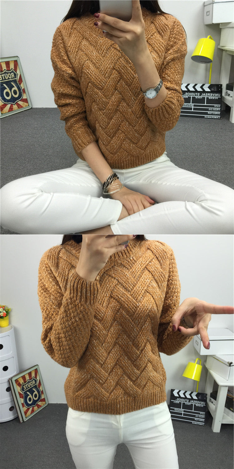 Dropped Shoulder Scoop 3/4 Sleeves Solid Pullover Sweater - Oh Yours Fashion - 4
