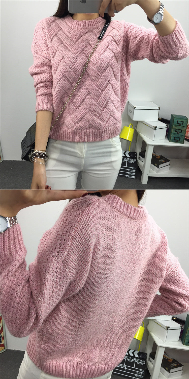 Dropped Shoulder Scoop 3/4 Sleeves Solid Pullover Sweater - Oh Yours Fashion - 3