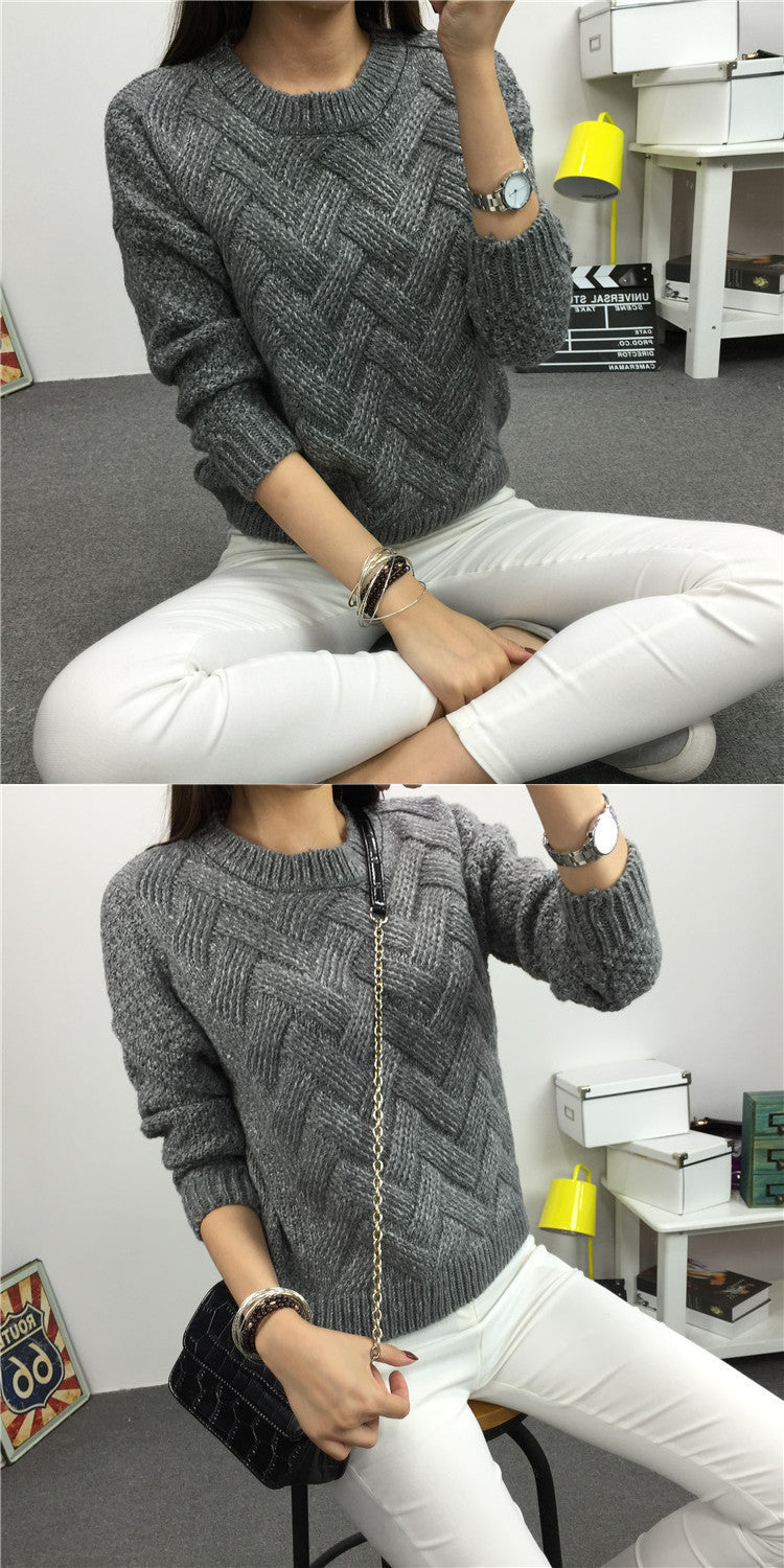 Dropped Shoulder Scoop 3/4 Sleeves Solid Pullover Sweater - Oh Yours Fashion - 5