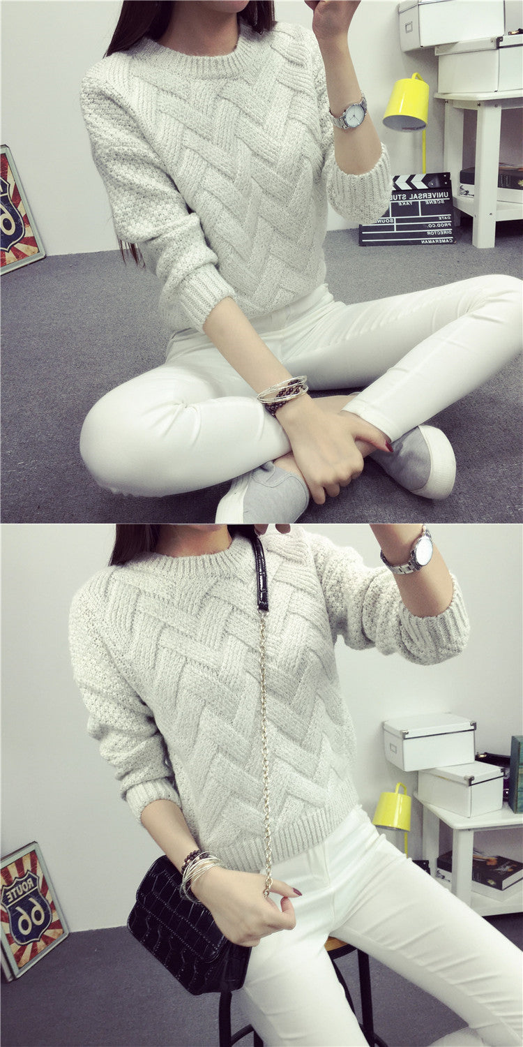 Dropped Shoulder Scoop 3/4 Sleeves Solid Pullover Sweater - Oh Yours Fashion - 6