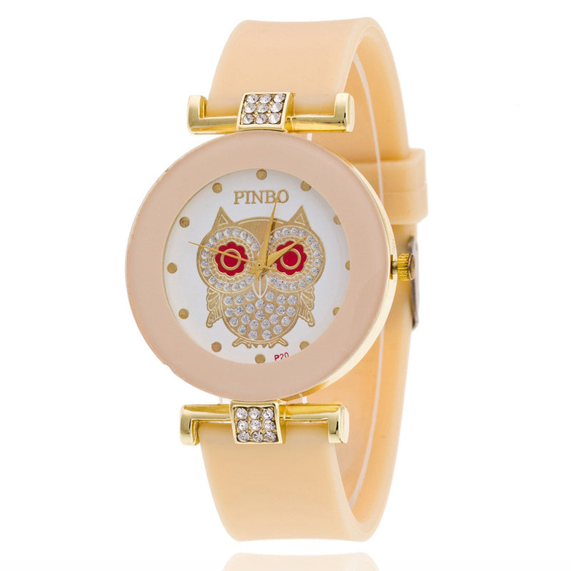 Owl Crystal Silica Quartz Watch - Oh Yours Fashion - 10