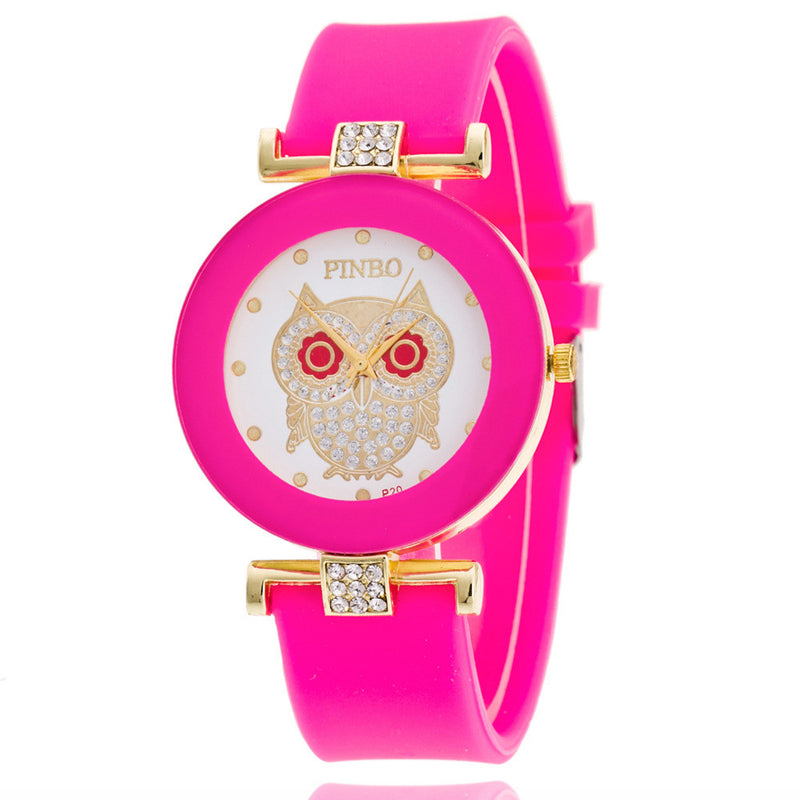 Owl Crystal Silica Quartz Watch - Oh Yours Fashion - 9