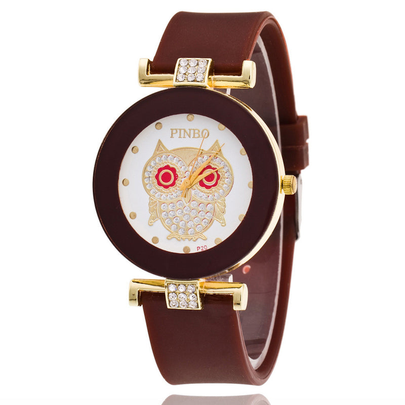 Owl Crystal Silica Quartz Watch - Oh Yours Fashion - 7