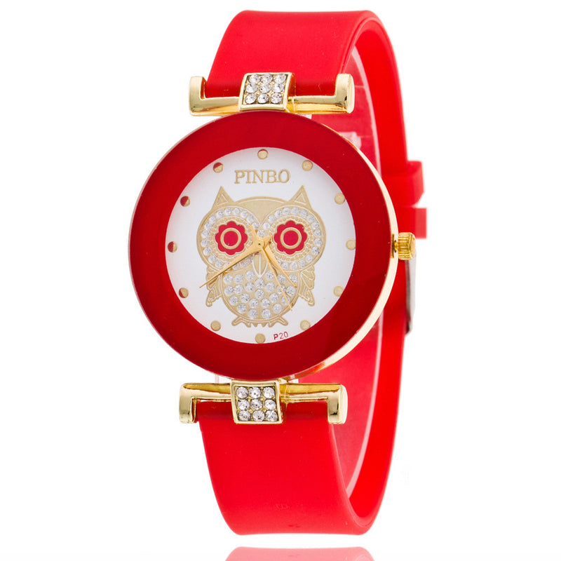 Owl Crystal Silica Quartz Watch - Oh Yours Fashion - 3
