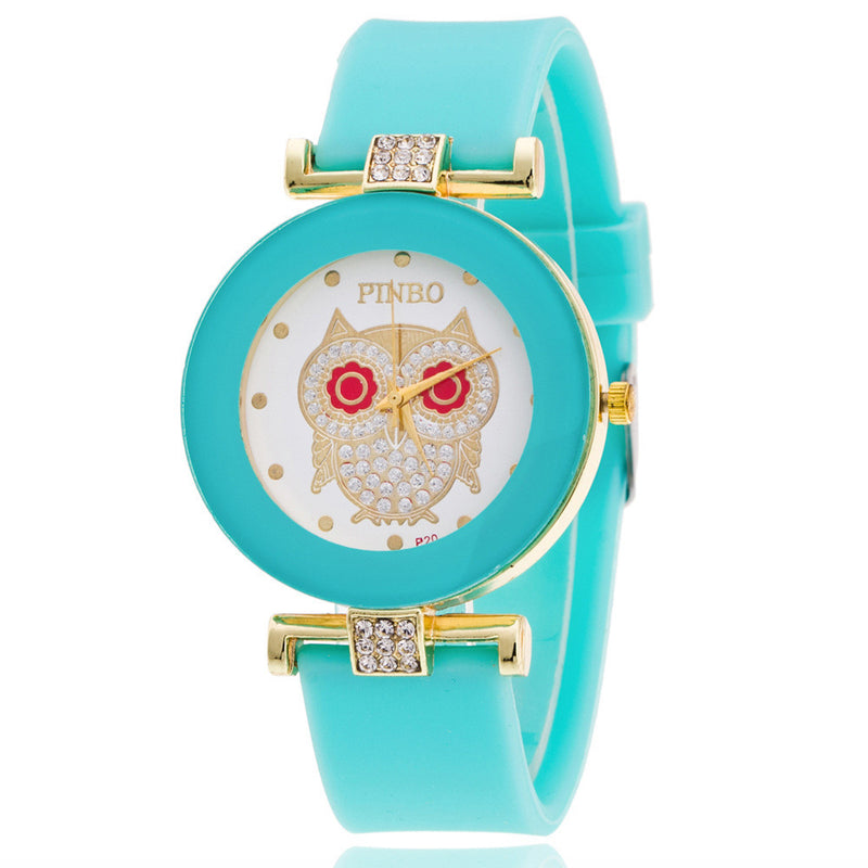 Owl Crystal Silica Quartz Watch - Oh Yours Fashion - 1