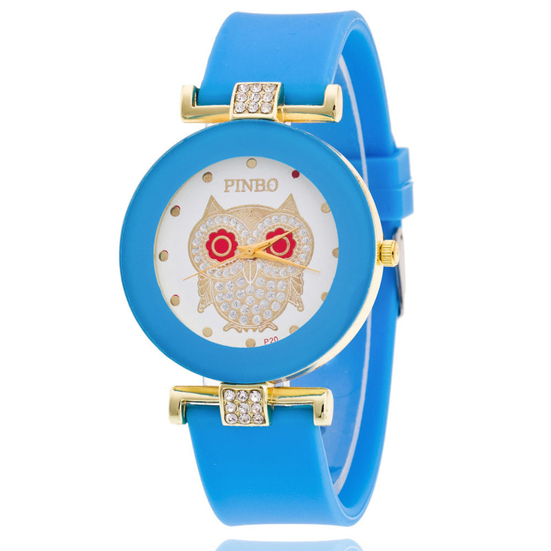 Owl Crystal Silica Quartz Watch - Oh Yours Fashion - 5