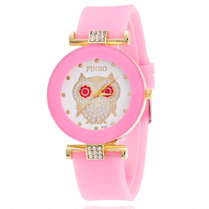 Owl Crystal Silica Quartz Watch - Oh Yours Fashion - 8