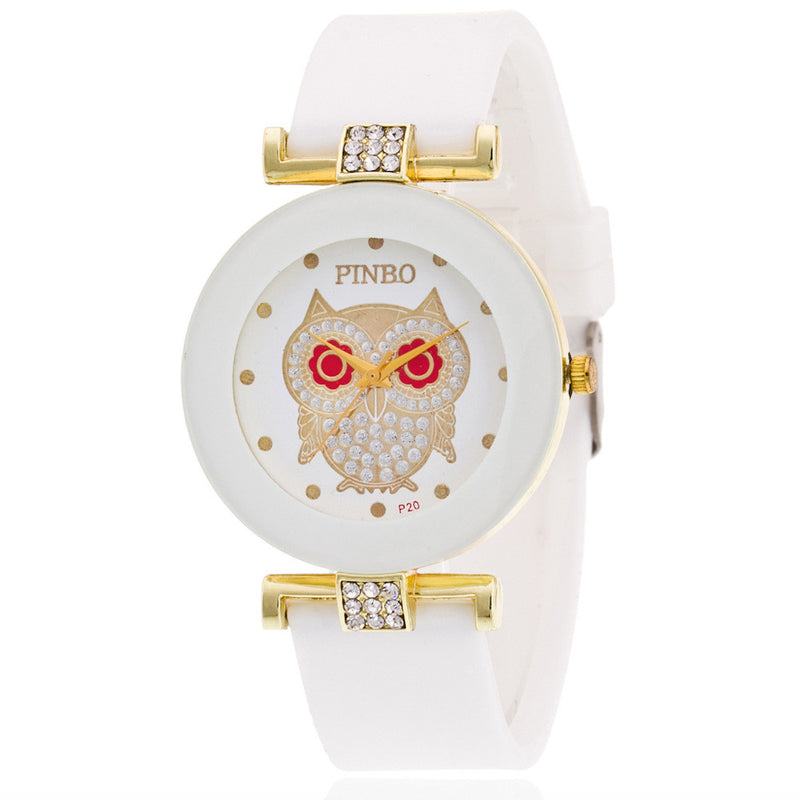 Owl Crystal Silica Quartz Watch - Oh Yours Fashion - 2
