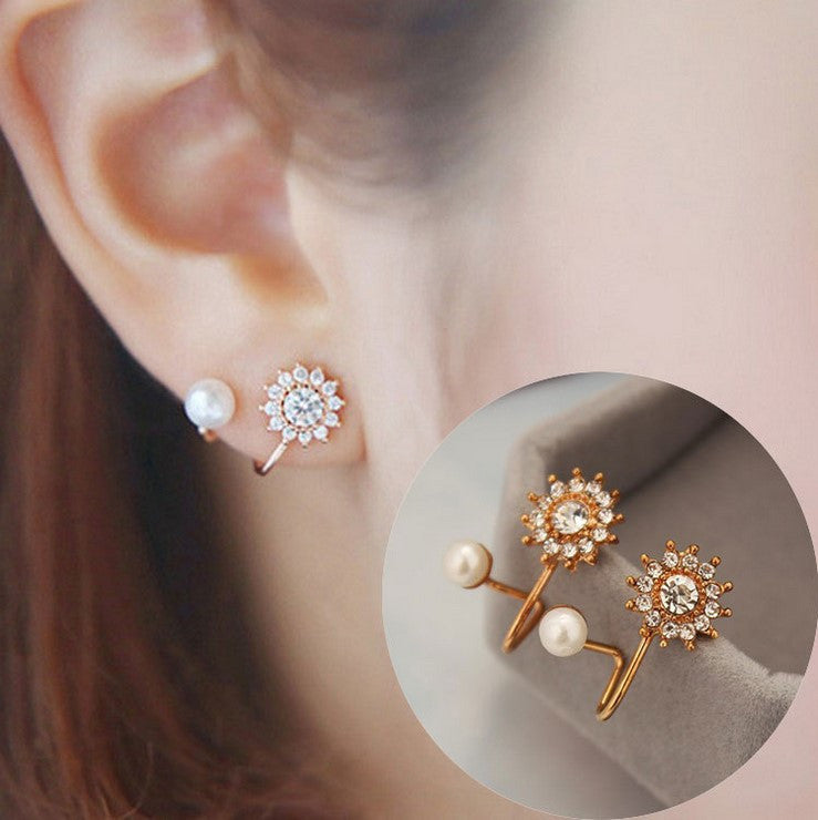 Daisy Flower Crystal Charming Earring - Oh Yours Fashion - 2