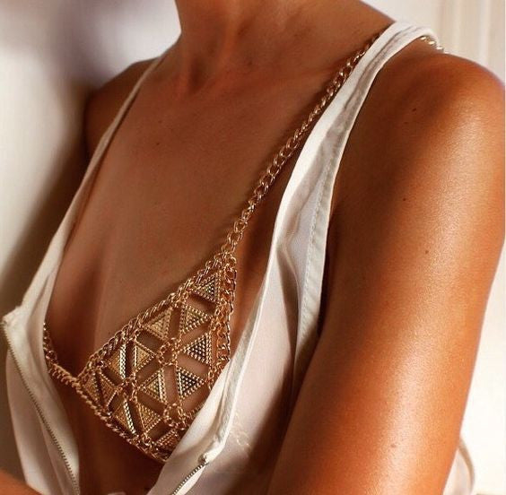 Personality Fashion Geometry Bra BodyChain - Oh Yours Fashion - 8