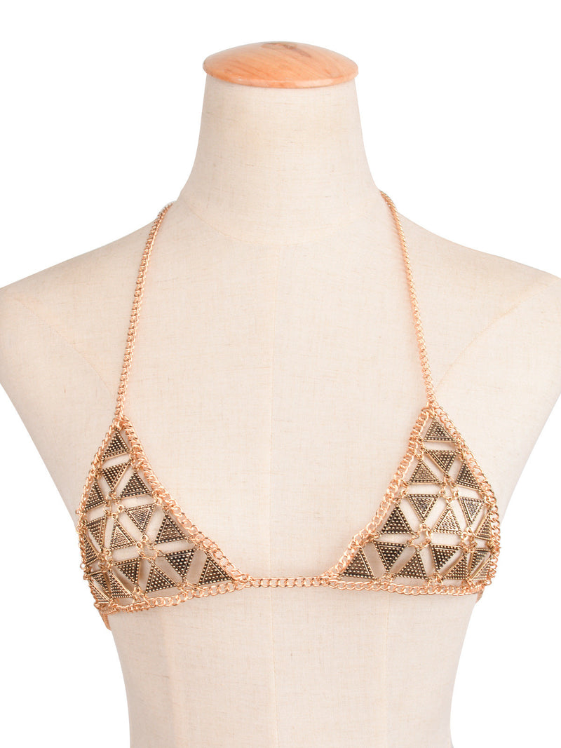Personality Fashion Geometry Bra BodyChain - Oh Yours Fashion - 2