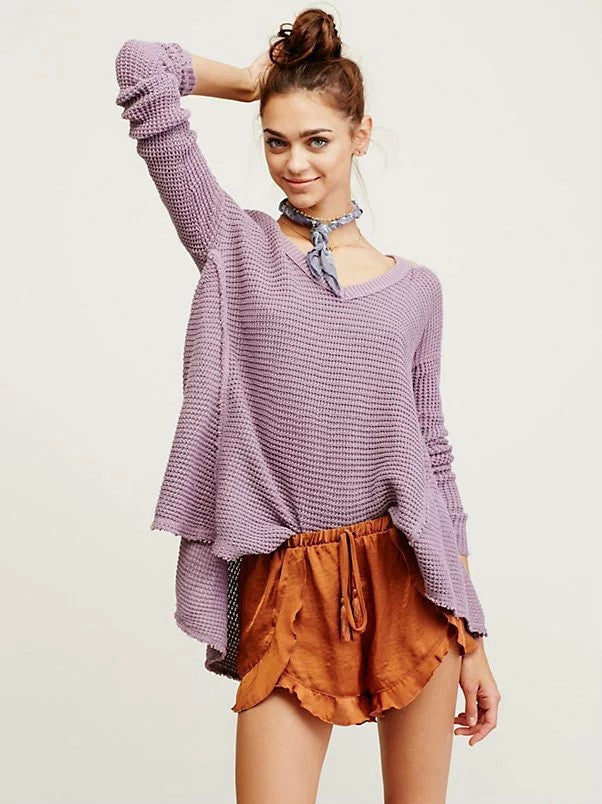 Street Style Bare Shoulder Loose Long Sweater - Oh Yours Fashion - 7