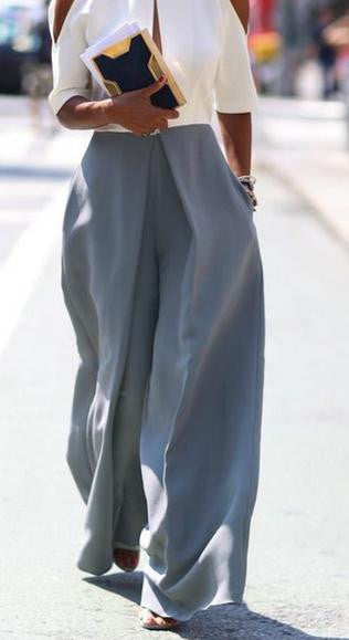 Wide Leg Loose Casual Street High Waist Pants - Oh Yours Fashion - 2