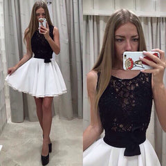 Beautiful Lace Patchwork Flared A-Line Short Dress - Oh Yours Fashion - 1