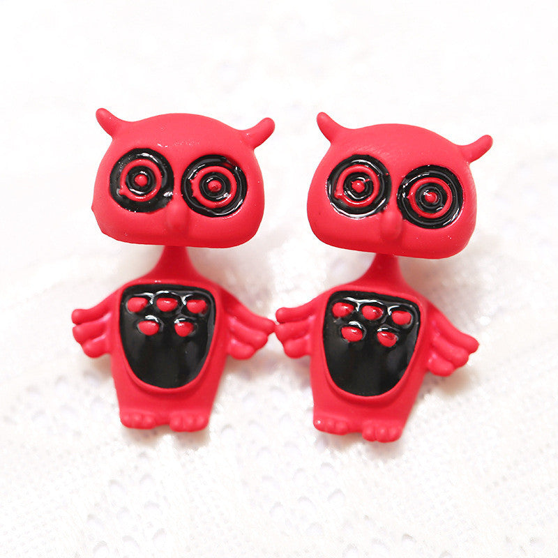 3D Cartoon Animals Through Stud Earrings - Oh Yours Fashion - 13