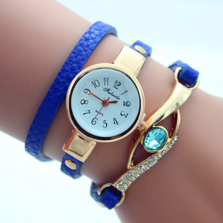 Gem Diamond-Encrusted Bracelet Watch - Oh Yours Fashion - 4