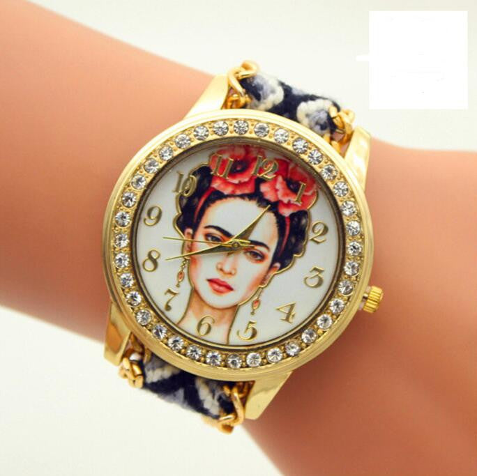 Beauty Women Print Woven Strap Watch - Oh Yours Fashion - 3