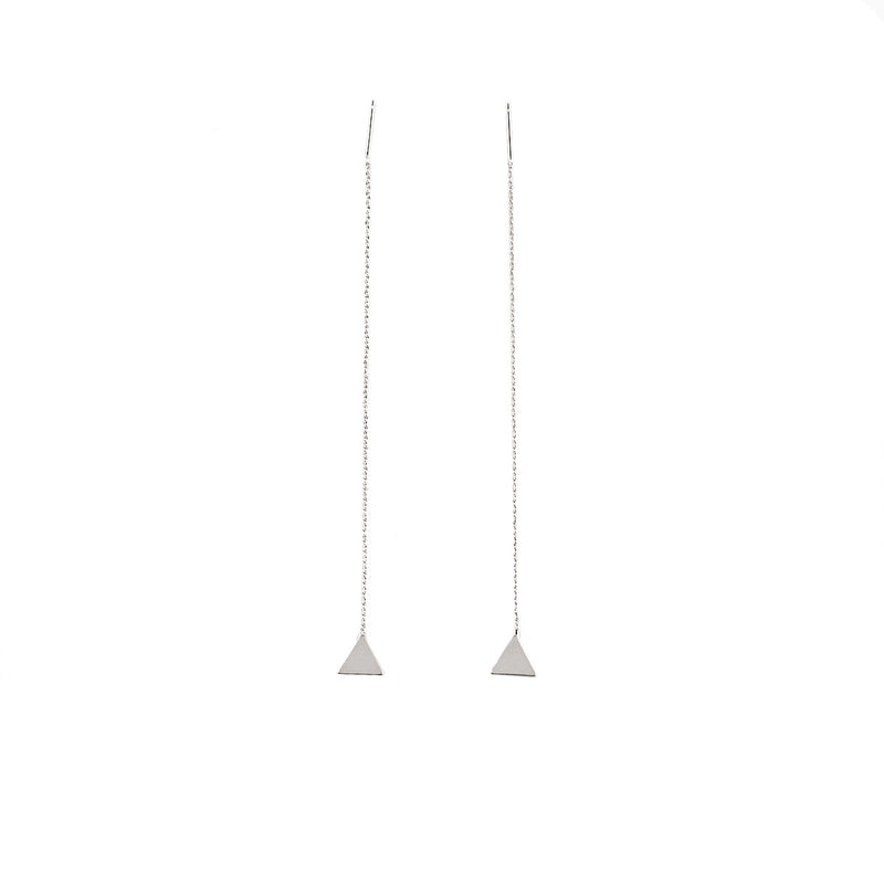 Creative Geometry Triangles Tassel Earrings - Oh Yours Fashion - 4
