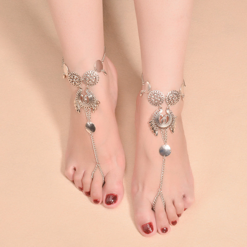 Exaggerate National Drop Pendant Tassel Anklet - Oh Yours Fashion - 2