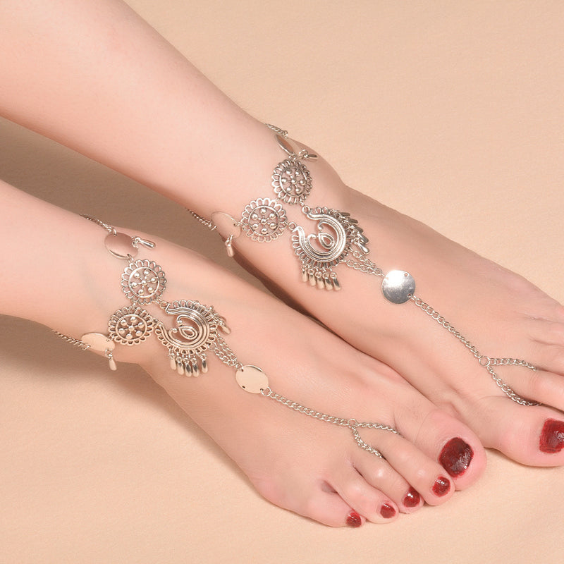Exaggerate National Drop Pendant Tassel Anklet - Oh Yours Fashion - 4