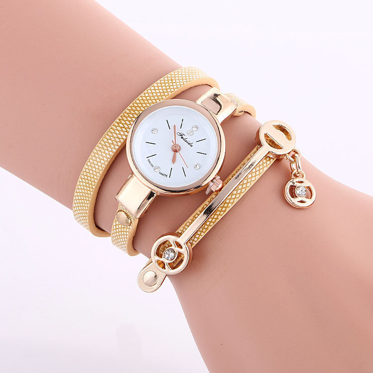 Classic Small Dial Wrap Metal Decoration Watch - Oh Yours Fashion - 2