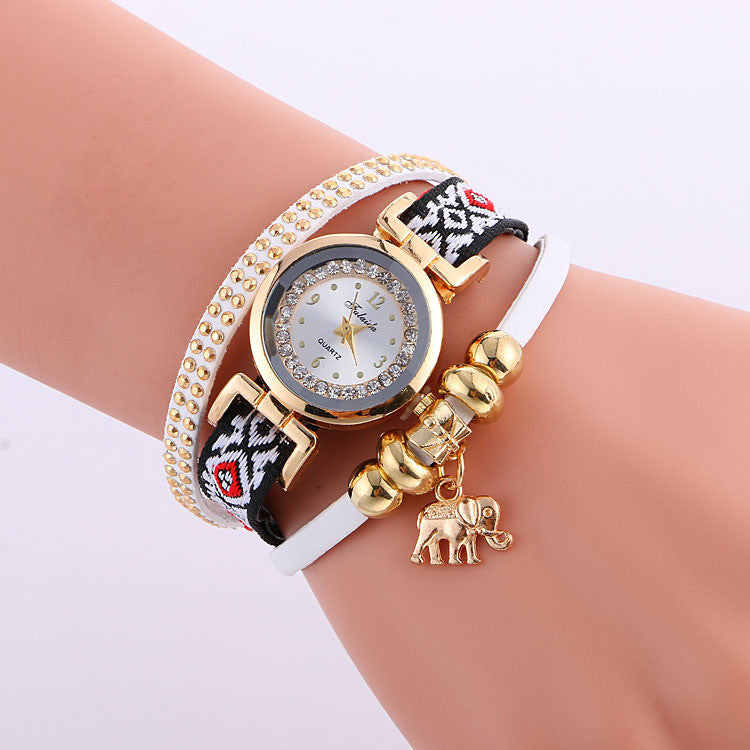 Classic Elephant Beads Pendant Watch - Oh Yours Fashion - 1
