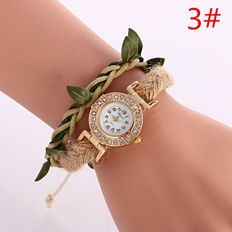 Adjustable Leaves Woven Watch - Oh Yours Fashion - 3