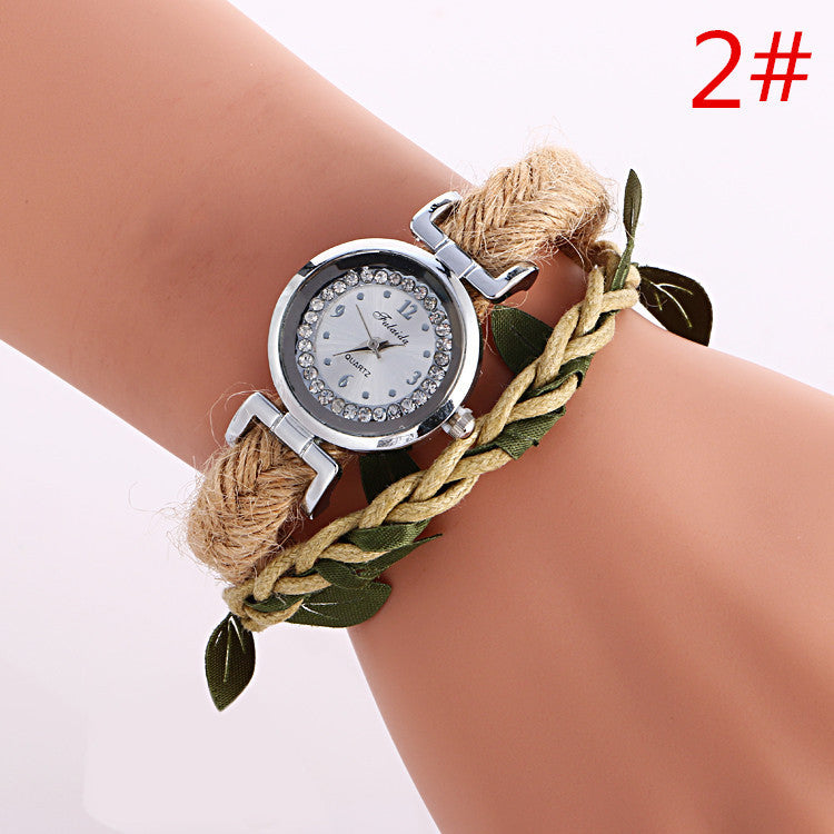 Adjustable Leaves Woven Watch - Oh Yours Fashion - 2
