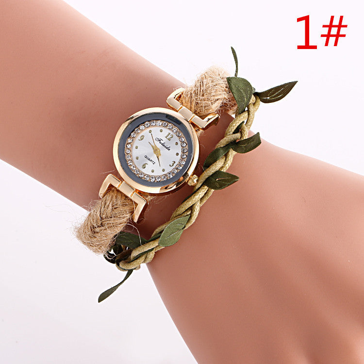 Adjustable Leaves Woven Watch - Oh Yours Fashion - 1