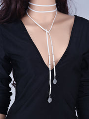 Fashion Lint Coin Tassel Necklace - Oh Yours Fashion - 4