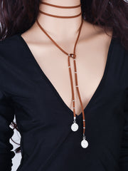 Fashion Lint Coin Tassel Necklace - Oh Yours Fashion - 5