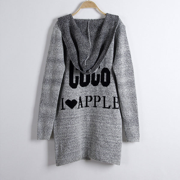 Fashion Print Loose Long Hoodie Cardigan - Oh Yours Fashion - 1