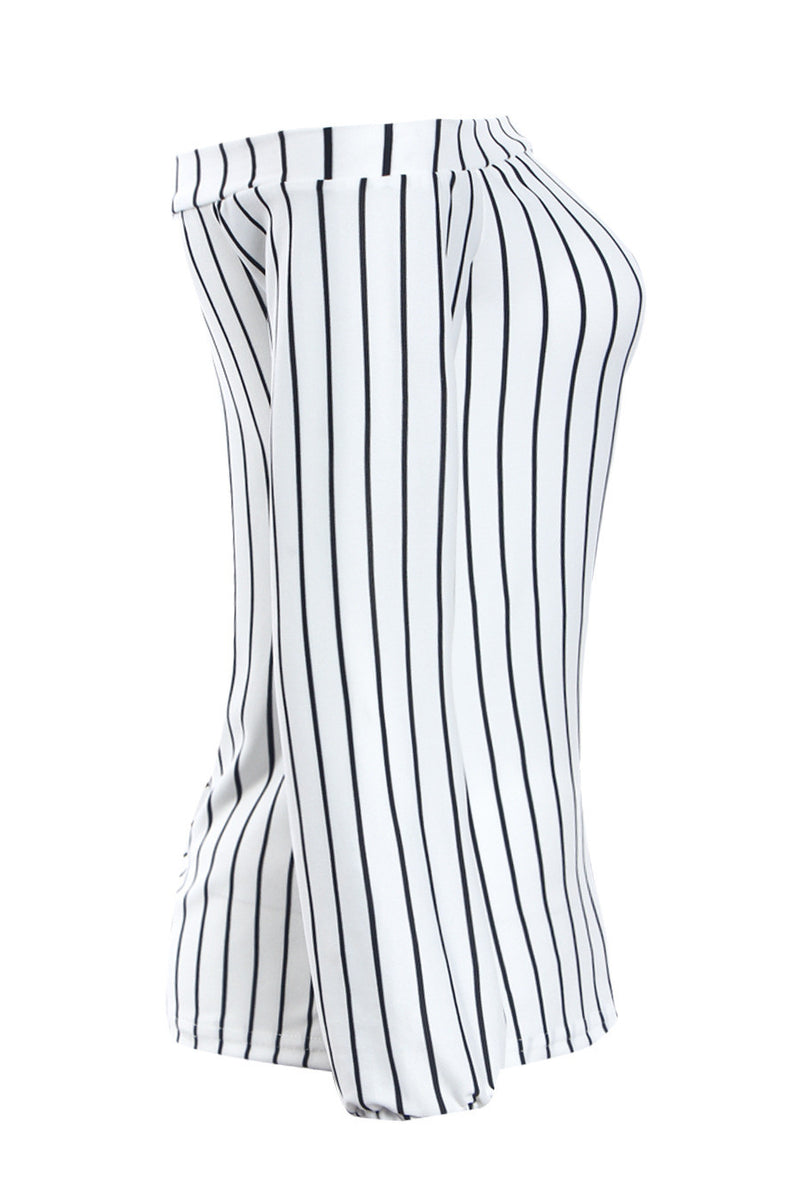 Sexy Off Shoulder Long Sleeve Stripe White Blouse - Oh Yours Fashion - 5