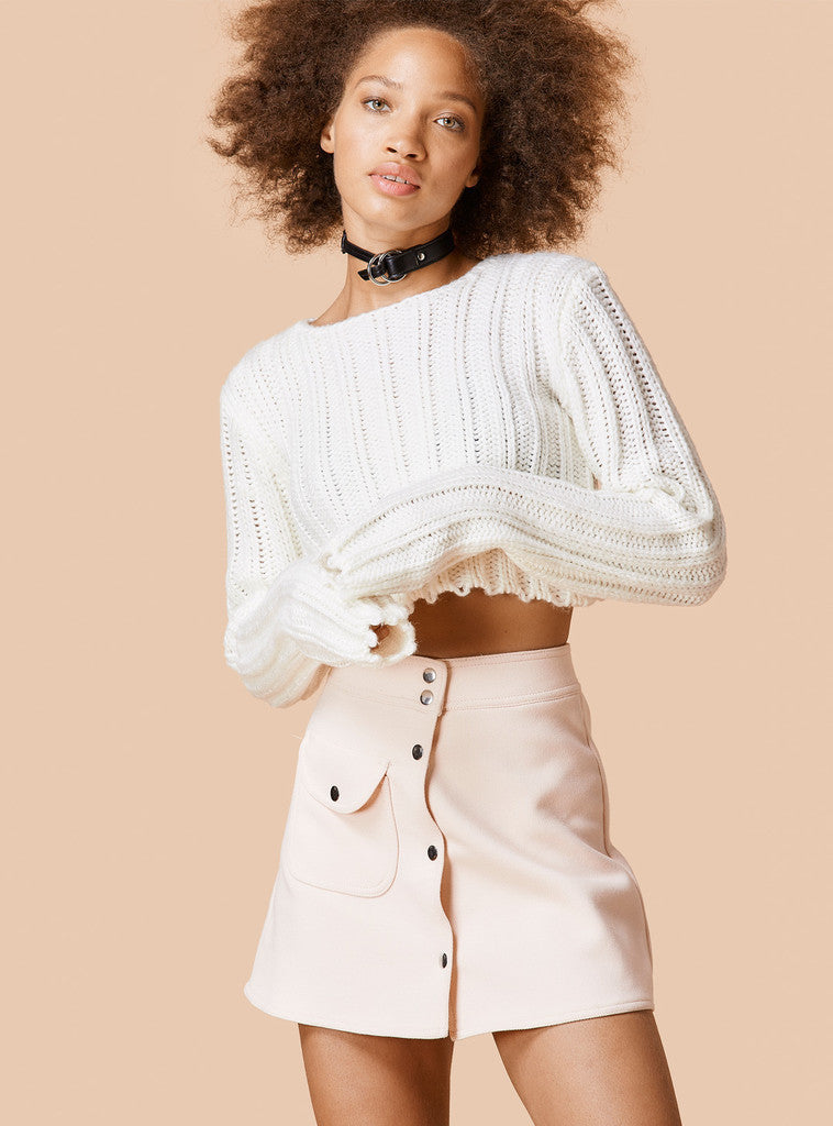 Sexy Long Sleeve Ribbed Crop Top Sweater - Oh Yours Fashion - 4