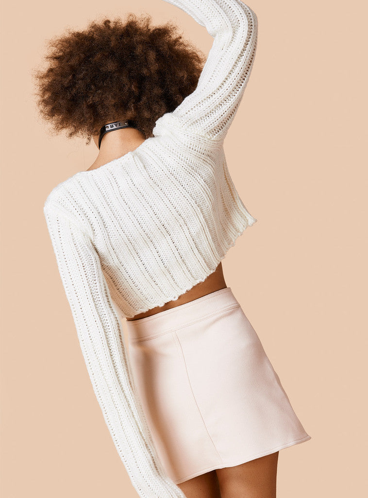Sexy Long Sleeve Ribbed Crop Top Sweater - Oh Yours Fashion - 8