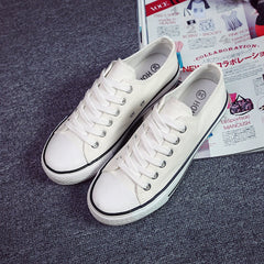 Classic Lace Up Couple Canvas Sneakers - Oh Yours Fashion - 9