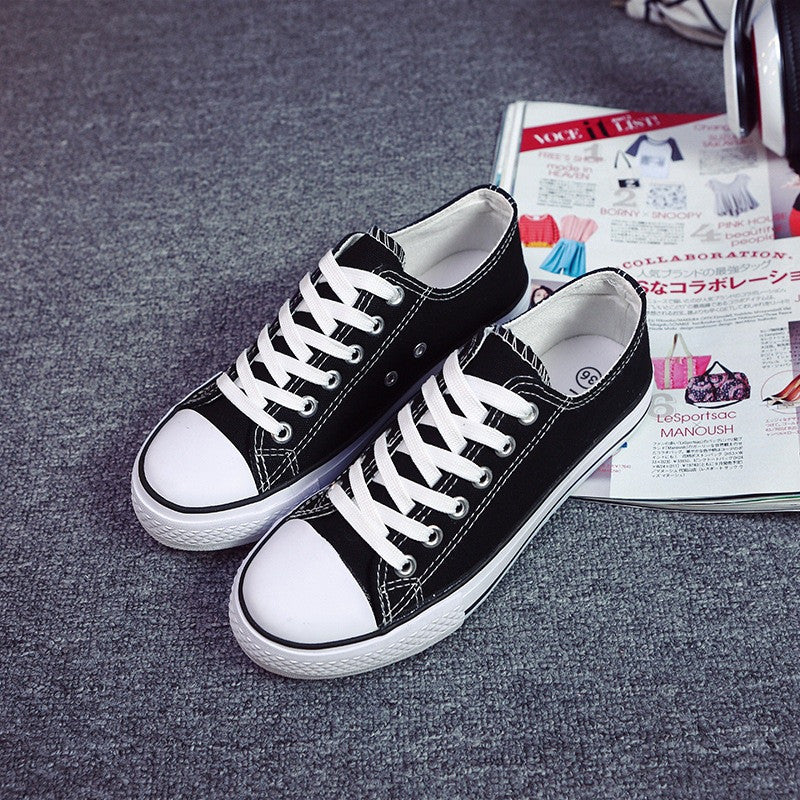 Classic Lace Up Couple Canvas Sneakers - Oh Yours Fashion - 1