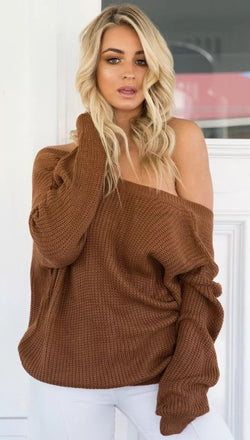Sexy Deep V Neck Knitting Sweater - Oh Yours Fashion - 3