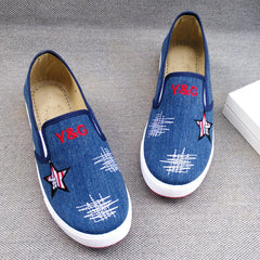 Simple Fashion Star Print Canvas Sneakers - Oh Yours Fashion - 1
